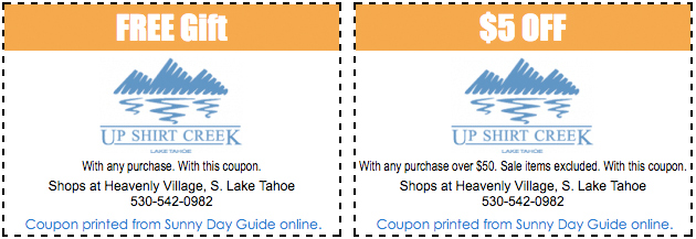 Lake Tahoe Coupon